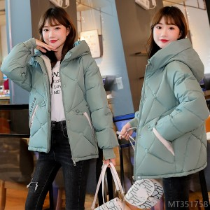 2020 new winter fashion Korean style loose little padded jacket BF outside