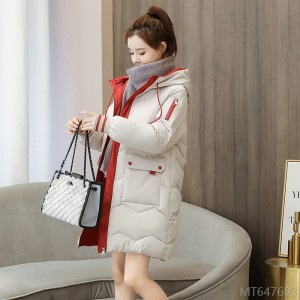 2020 new loose winter jacket winter clothes small fresh mid-length cotton-padded jacket