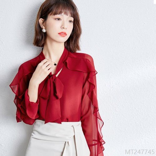 2020 new new in stock all-match women's fashion chiffon shirt