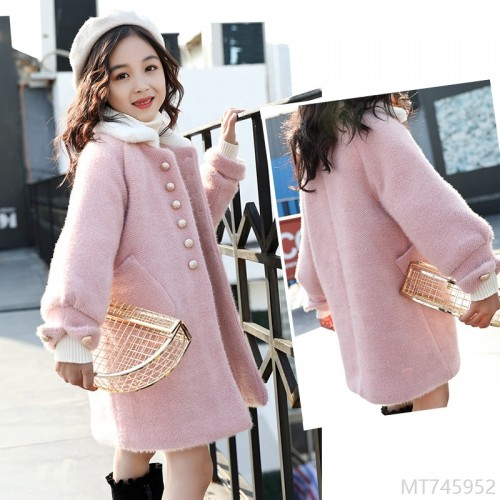 2020 new fashionable mink wool coat, big girl, western style, thick woolen cloth