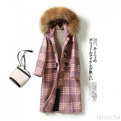 2020 new Korean woolen coat women's plaid coat to keep warm