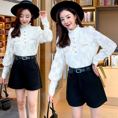 2020 new trendy temperament is thin lace lace single top lace shirt