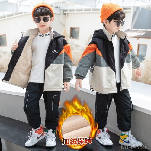 2020 new cotton-padded jacket trendy handsome boy casual Korean style stitching cotton jacket