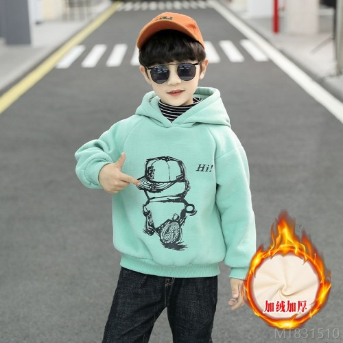 2020 new velvet padded pullover sweater winter style in the big children's leisure all-match