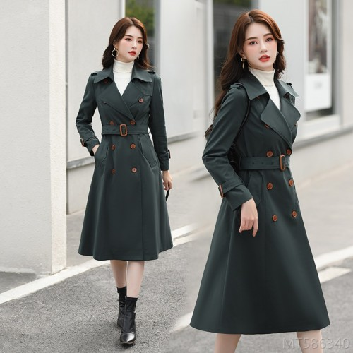 2020 new high-end atmospheric waist British style drape coat jacket double breasted