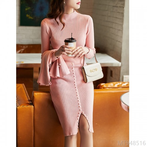 2020 new V-neck vest split mid-length skirt OL workplace two-piece suit