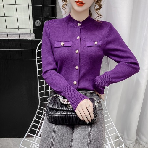 2020 new fashion single-breasted knitted sweater small cardigan jacket