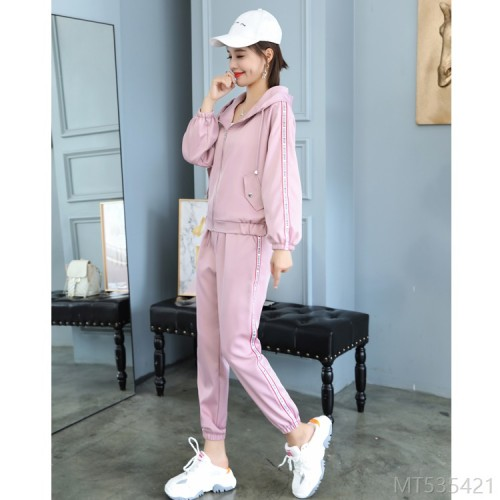 2020 new Korean fashion long-sleeved hooded sweatshirt sports suit