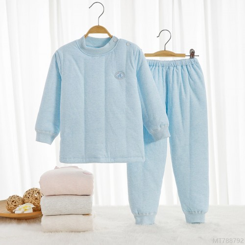 2020 new baby cotton clothes suit quilted thickened autumn and winter Antarctic cotton warm middle collar cotton baby pajamas