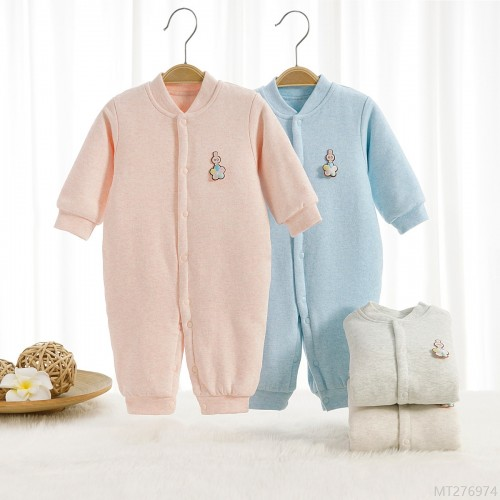2020 new and new baby velvet thin cotton one-piece autumn and winter warm clothes quilted-year-old baby romper