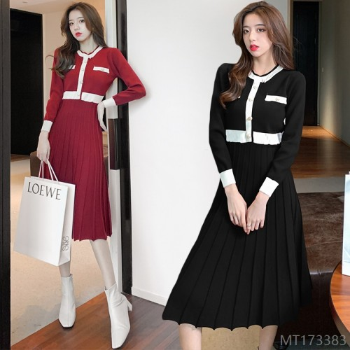 2020 new fashion slim knit dress fashion all-match