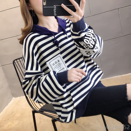 2020 new sweater style thin style loose hooded top clothes without hood