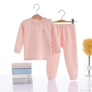 2020 new autumn and winter Shurong children's thermal underwear set-size boys and girls autumn clothes long pants cotton baby