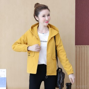 2020 new Korean embroidery long-sleeved autumn all-match jacket with hood
