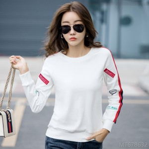2020 new all-match real price spring fashion long-sleeved loose sweater T-shirt