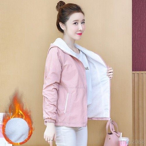 2020 new slim baseball uniform plus fleece winter jacket casual all-match