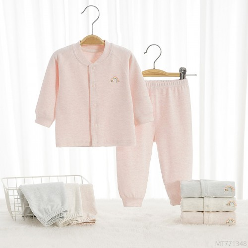 2020 new baby underwear set pajamas winter bottoming clothes pure cotton spring and autumn--year-old baby autumn clothes long trousers A