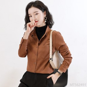 2020 new all-match covering meat, thin and thick, outer long-sleeved female autumn and winter layered wear