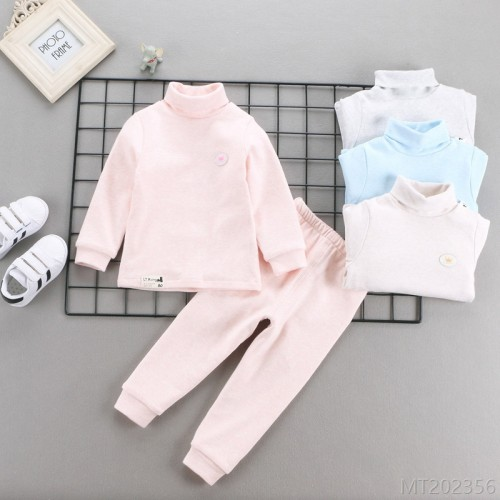 2020 new high neck thermal underwear set autumn and winter cotton
