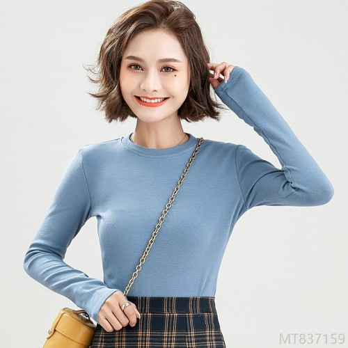 2020 new long-sleeved slim bottoming shirt all-match top T-shirt