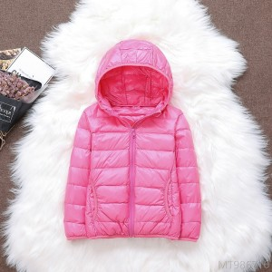 2020 new light and thin down jacket short middle and big kids