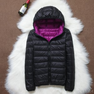 2020 new autumn and winter double-sided down jacket women's light and short white duck down jacket
