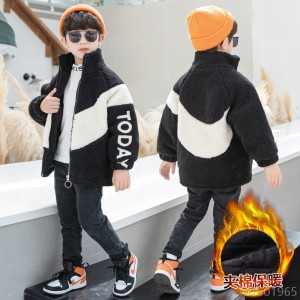 2020 new Korean style medium and large quilted warm wool sweater western style coat jacket