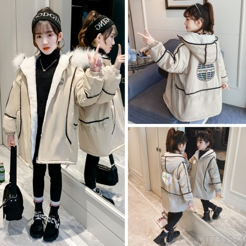 2020 new padded jacket jacket Korean version of the big kids reflective printing plus velvet