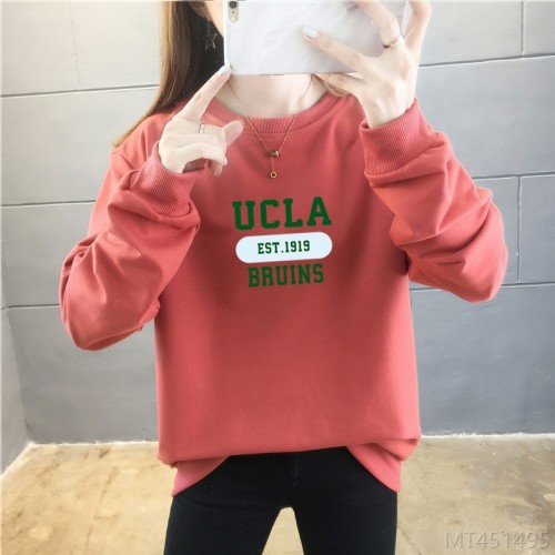 2020 new letter loose sweater women Korean fashion thin coat