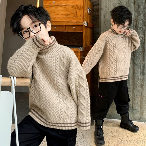 2020 new autumn and winter fashion plus velvet thickening winter boys middle-aged children