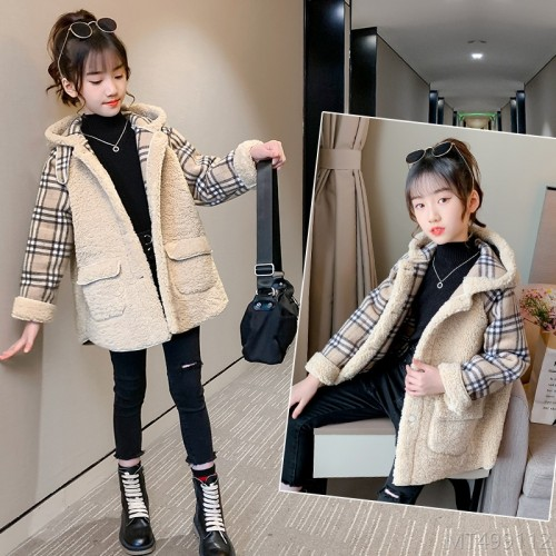 2020 new large stitching plaid thickened western style jacket trendy jacket