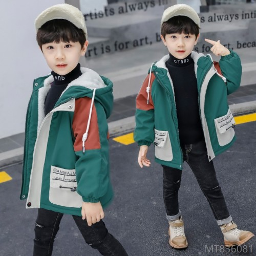 2020 new new fashion boy handsome windbreaker in big boy Korean version plus velvet