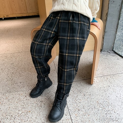 2020 new winter plus velvet thick trousers for boys Korean style trend