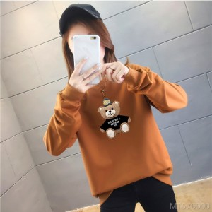 2020 new bear thin printed sweater women cross-border long-sleeved autumn and winter