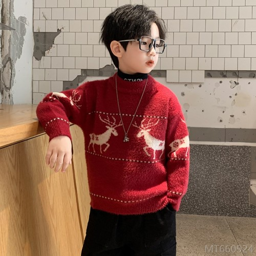 2020 new children's plus velvet thickened boy mink velvet autumn and winter