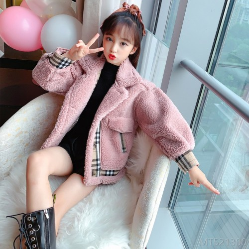 2020 new fashion winter clothes Korean girl stitching plaid western style
