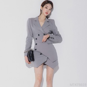 2020 new double breasted blazer style professional dress