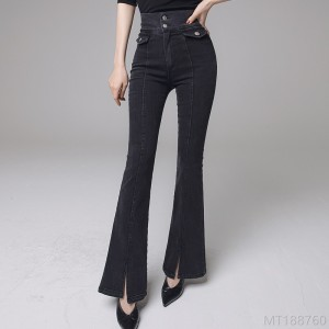 2020 new high-waist slimming fashion micro-slit pants jeans