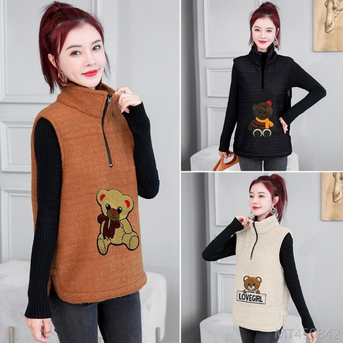 2020 new vest jacket wool vest cotton waistcoat outer wear Korean version