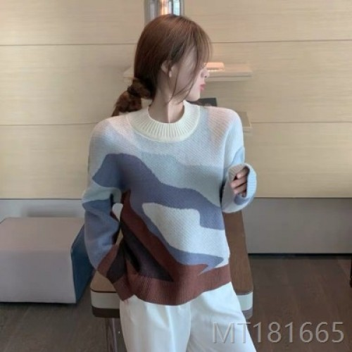 2020 new loose and versatile long-sleeved pullover sweater tide wool sweater
