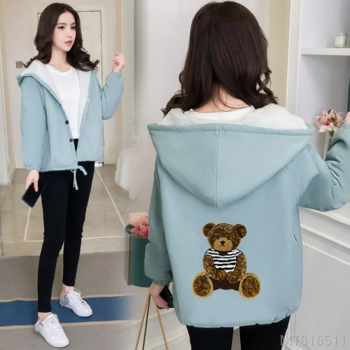 2020 new lamb wool cotton jacket female student Hong Kong style thick coat