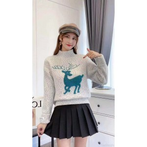2020 new chenille sweater women's fashion autumn and winter thick and loose outer wear