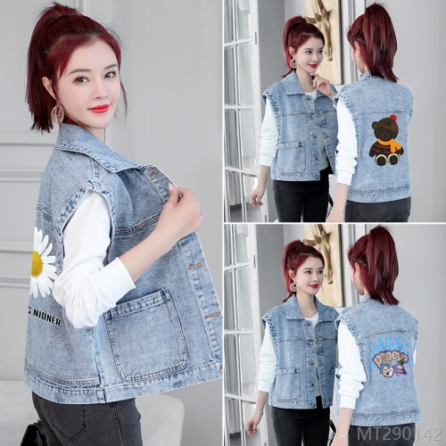 2020 new Korean version loose short denim vest jacket tide increases
