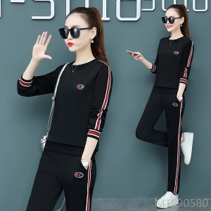 2020 new cotton women's mom casual sports suit