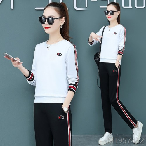 2020 new arrivals. Pure cotton casual sports suit women fashion fashion