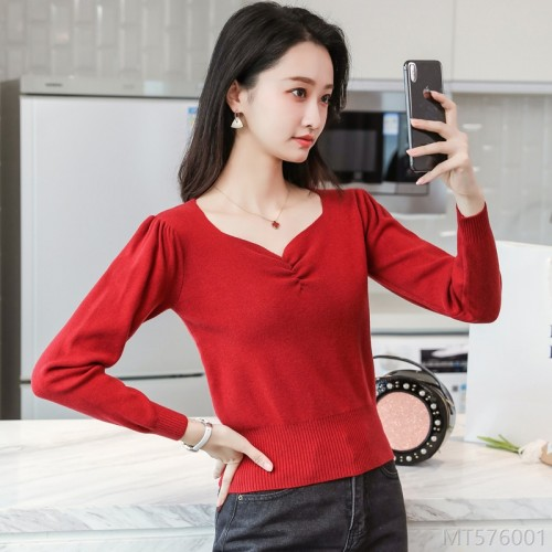 2020 new wild spot long-sleeved bottoming shirt year women's fashion