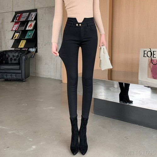 2020 new video all-match spring black leggings outer wear