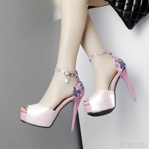 2020 new stiletto and super high heel floral strap sandals-fashion