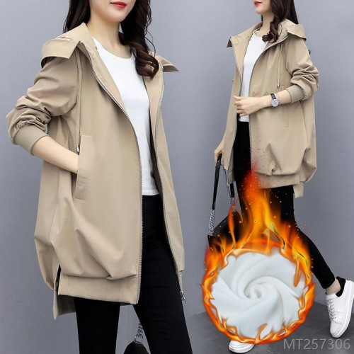2020 new windbreaker women's fashion winter Korean casual hooded