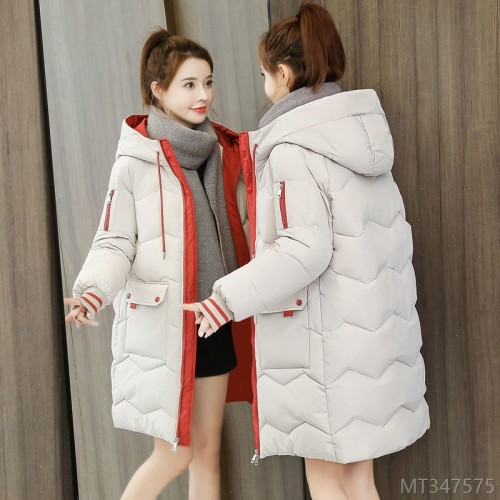 2020 new new down cotton jacket women's mid-length fashion Korean version